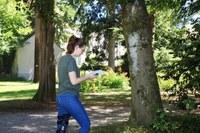 Roaming free despite a walking impediment